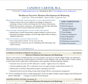 Director of Business Development and Marketing Resume
